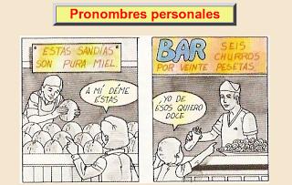 AUTOEVALUACIÓN: los pronombres personales