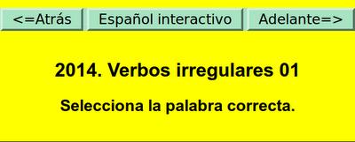 ACTIVIDAD INTERACTIVA. VERBOS IRREGULARES
